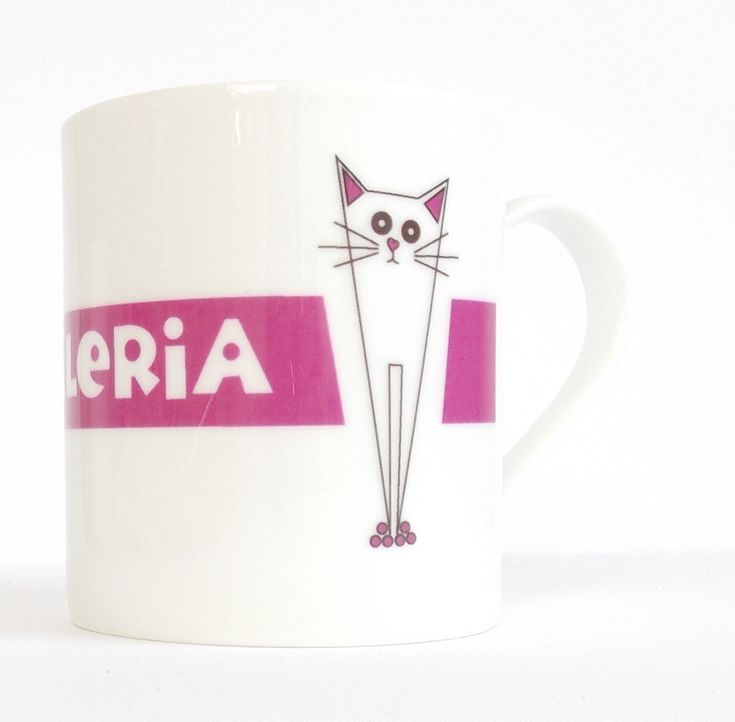 How wonderful to have your own name associated with Pusskin!  Giddy Sprite offers a whole range of personalised products. http://www.giddysprite.com/product/personalised-pusskin-mug/