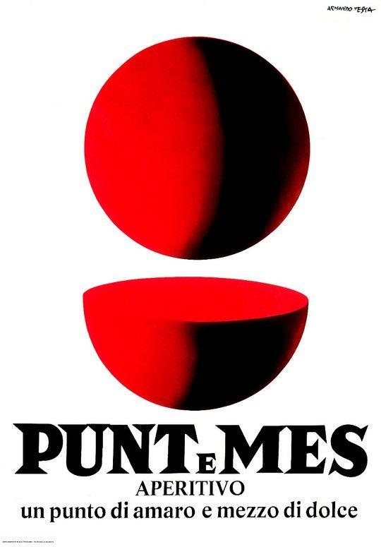 1960 manifesto Punt e Mes by Armando Testa