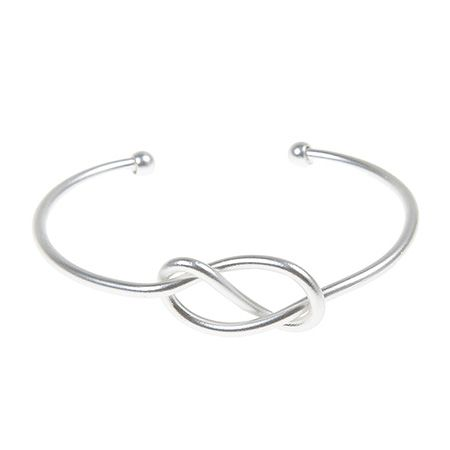 Infinity Knot Bracelet - silver #knot_bracelet #lovers_knot_bracelet #bridesmaid #bracelet #cuff #silver