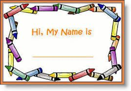 Image result for name tags for kindergarten