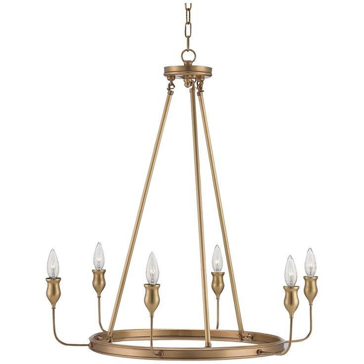 Currey and Company Trilogy Antique Brass Chandelier