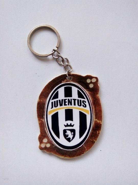 Gantungan Kunci Paralon Bakar Logo Klub Sepakbola JUVENTUS