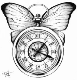 Pocket Watch Beautiful Image Drawing
