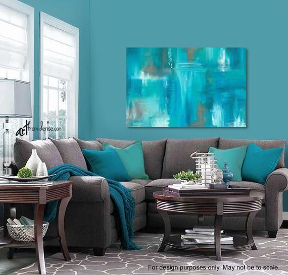 Pin On Sala Nueva Turquoise wall decor living room