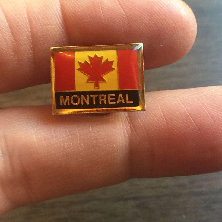 Montreal Pin, Cloisonne Pin Candian Pinback, Montreal Pin Canadian Flag Pin back