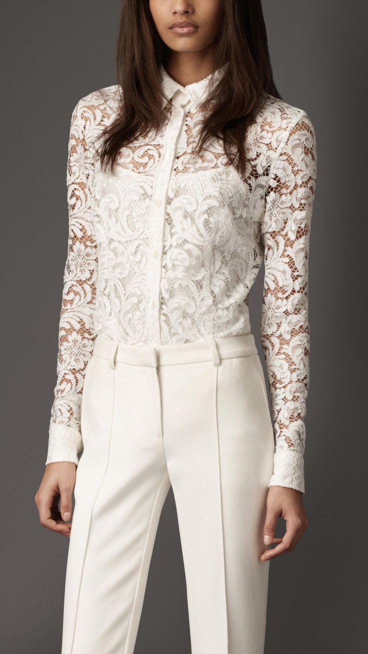 Burberry London effortless lace shirt