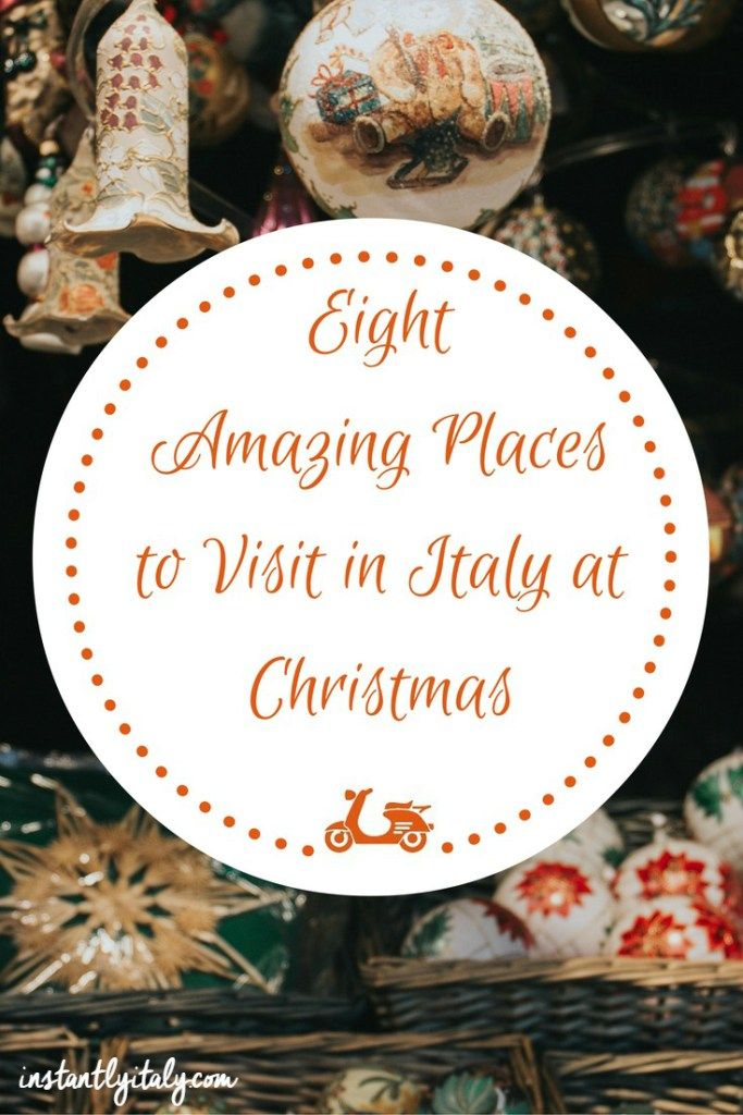 Italy may be associated with summer and hot weather, but there's a lot to see in winter too. Here you can find eight amazing places to visit around Christmas time.