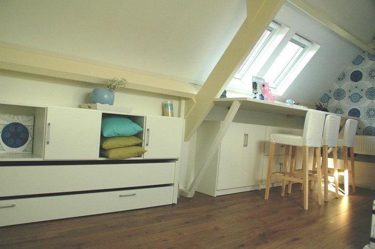 Als je het True Plexat bed inschuift heb je extra ruimte op je zolder slaapkamer.
