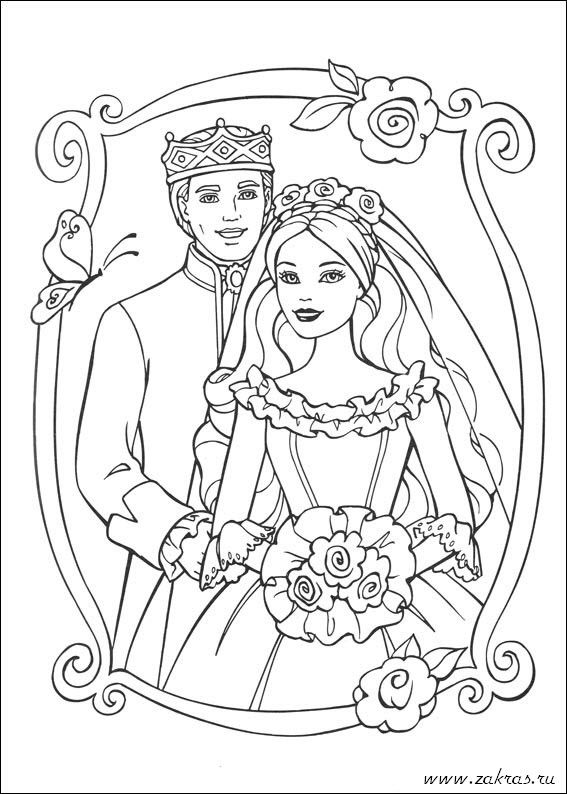 Pin By Jurga On Disney Colors Wedding Coloring Pages Barbie Coloring Pages Barbie Coloring