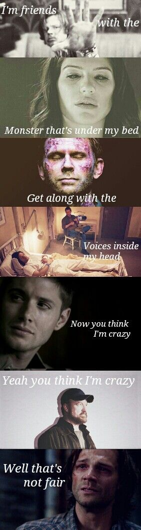 My 2 favorite things in one picture.. Eminem lyrics and Supernatural .. I'm crying <3