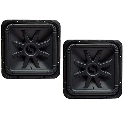 (2) Kicker L7S15 Car Audio 15 Subwoofer Square L7 Dual 4 Ohm Sub 44L7S154
