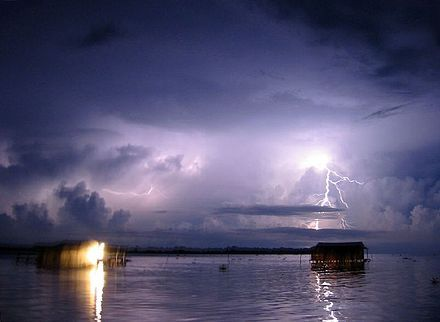 "Catatumbo lightning - For 140 to 160 nights out of the year, for 10 hours at a time, the sky above the river is pierced by almost constant lightning, producing as many as 280 strikes per hour. Known as the ""Relampago del Catatumbo,"" this lightning storm has been raging, on and off, for as long a people can remember."