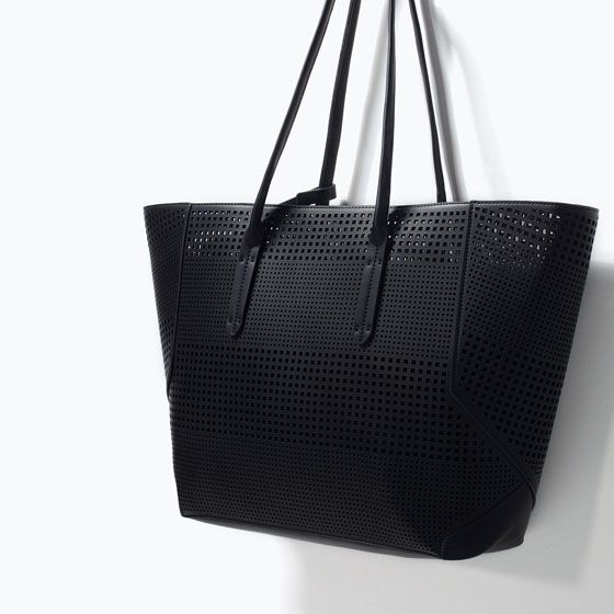 ZARA - SHOES & BAGS - PERFORATED SHOPPER BAG