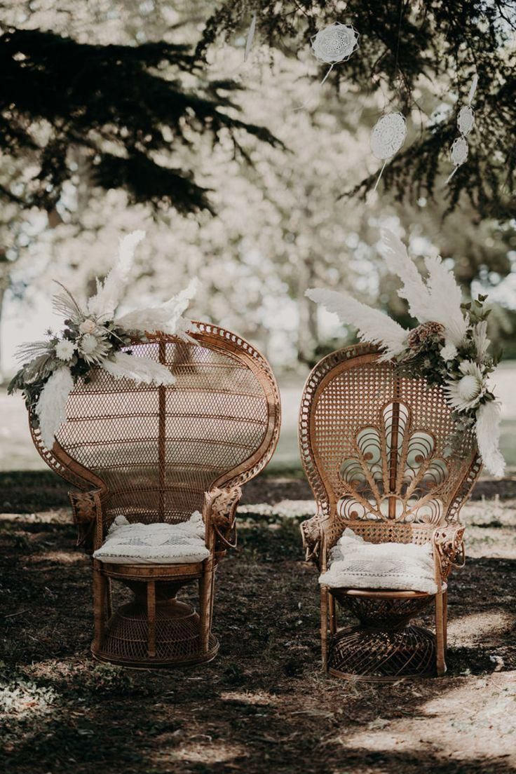 Cool marriage ceremony and boho within the Beaujolais #bohowedding