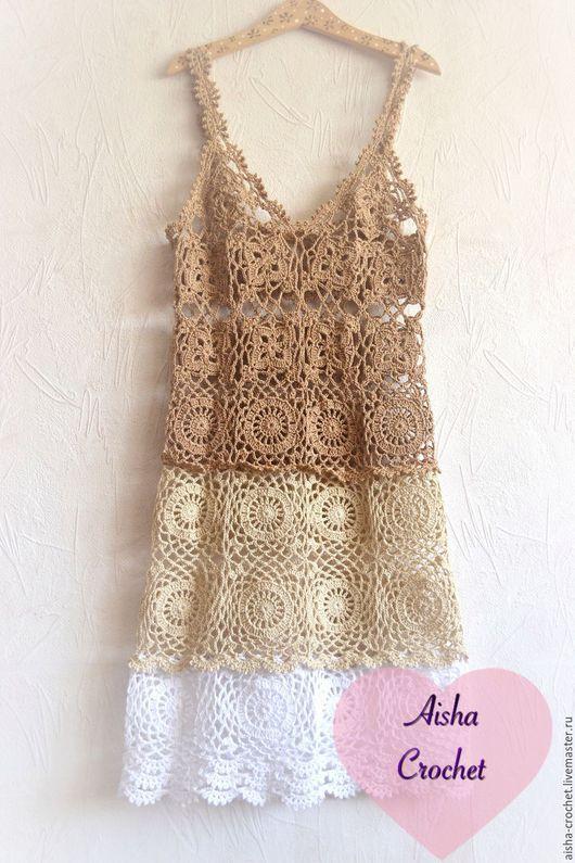 Пляжные платья ручной работы. Ярмарка Мастеров - ручная работа. Купить Пляжный сарафан. Handmade. Бежевый, платье летнее