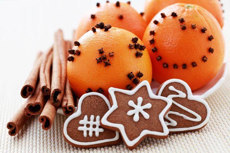 Świąteczne, Pierniki, Pomarańcze, Cynamon, Goździki