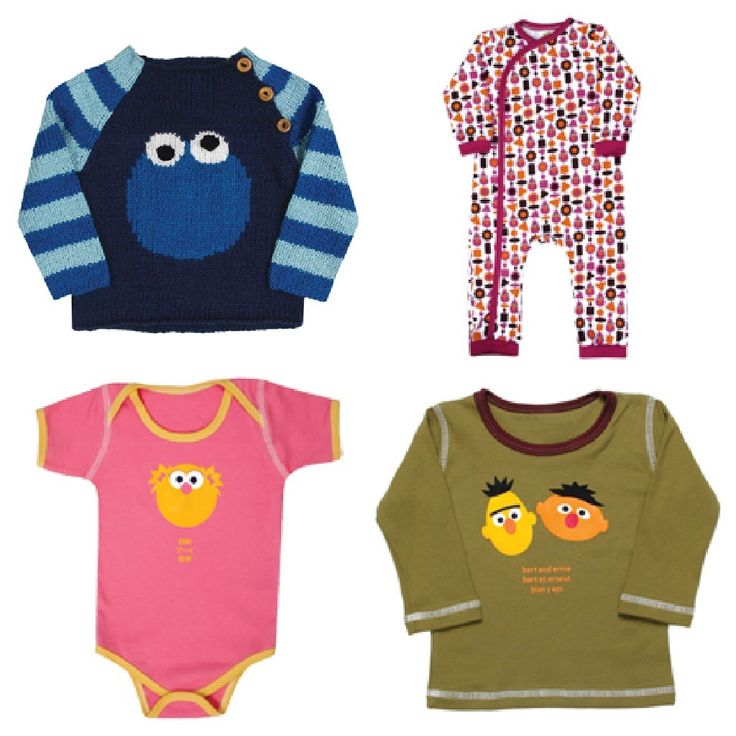 Adorable organic Sesame Street clothes from Kiwi Industries -- so soft and well-made.