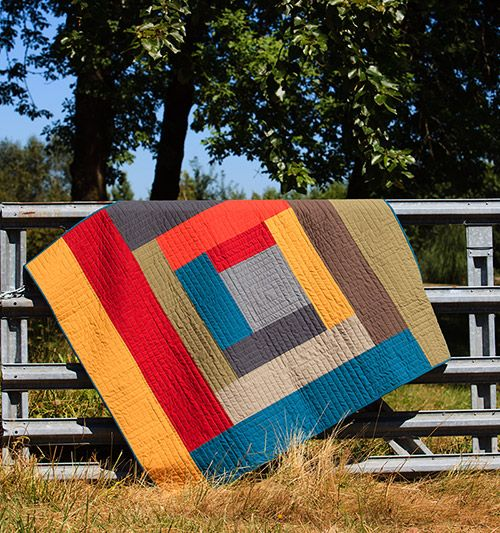 "Would make a really cool backing for a log cabin quilt. Tahoe Log Cabin Quilt Kit, 53 x 61"", at Pine Needle Quilt shop"