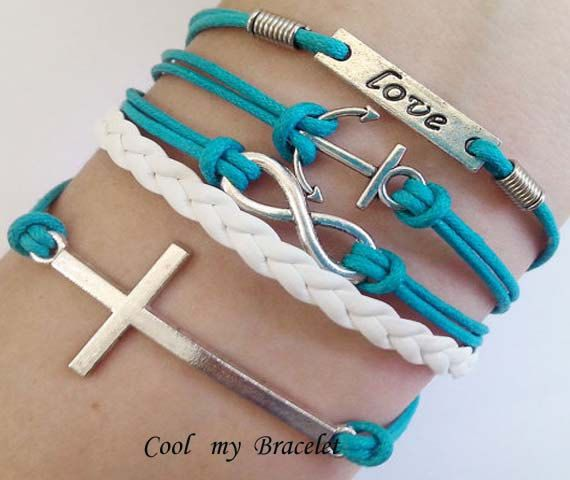 Personality infinite charm bracelet cross anchor by Coolmybracelet, $5.99