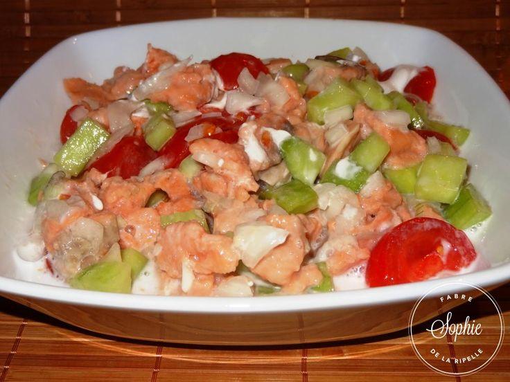 Salade tahitienne au saumon (hypocalorique)