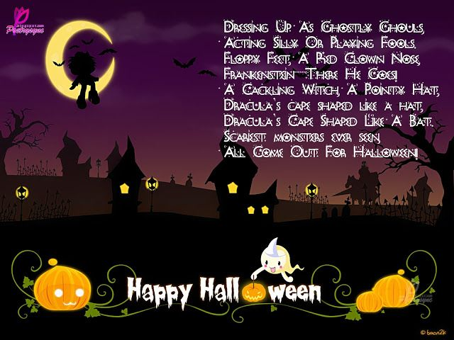 Poetry: Halloween Poems With Happy Halloween Wishes Cards For Facebook