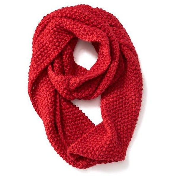 Old Navy Womens Chunky Knit Infinity Scarf ($14) ❤ liked on Polyvore featuring accessories, scarves, red, red infinity scarves, tube scarf, loop scarf, red infinity scarf and red scarves