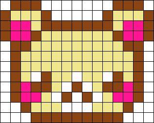 Bear/ Rilakkuma bead pattern
