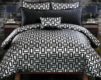 Kate Black 5 Pc Queen Comforter Set. $149.99.  Find affordable Queen Linens for your home that will complement the rest of your furniture.