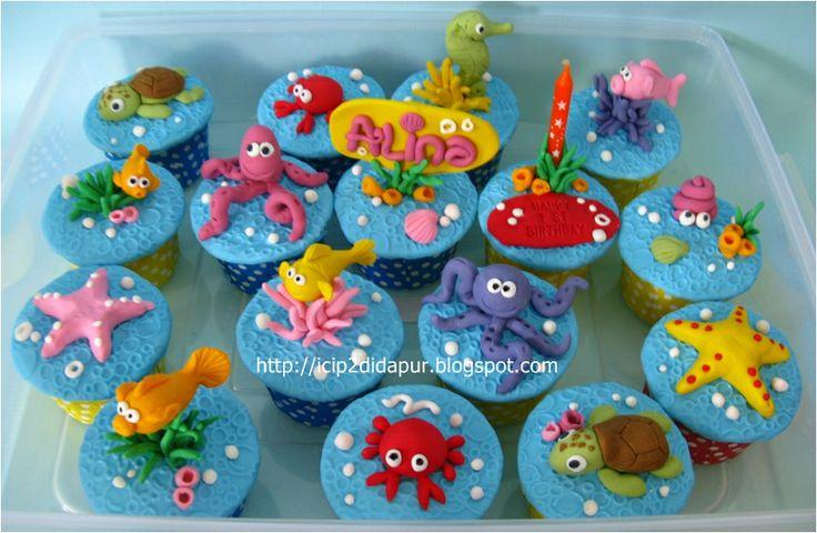 little mermaid cupcakes | ICIP-ICIP DI DAPUR: Little Mermaid Cupcakes for Alina