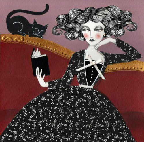 Sofá y lectura: comodidad intelectural (ilustración de Marta Ponce)