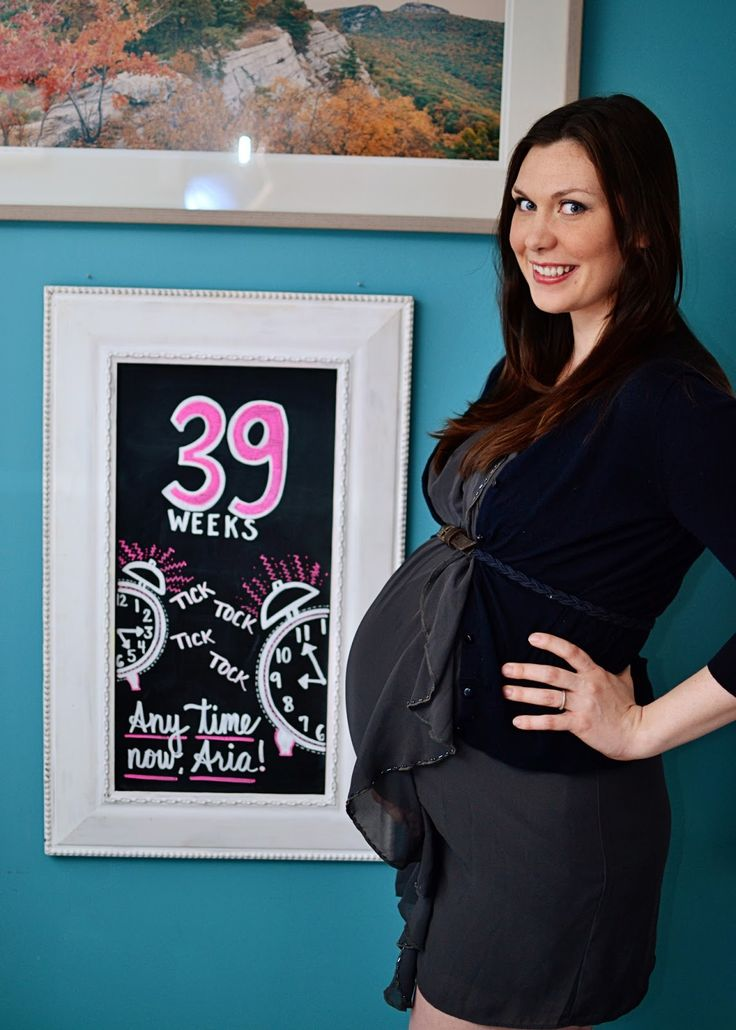 39 weeks pregnancy chalkboard progress