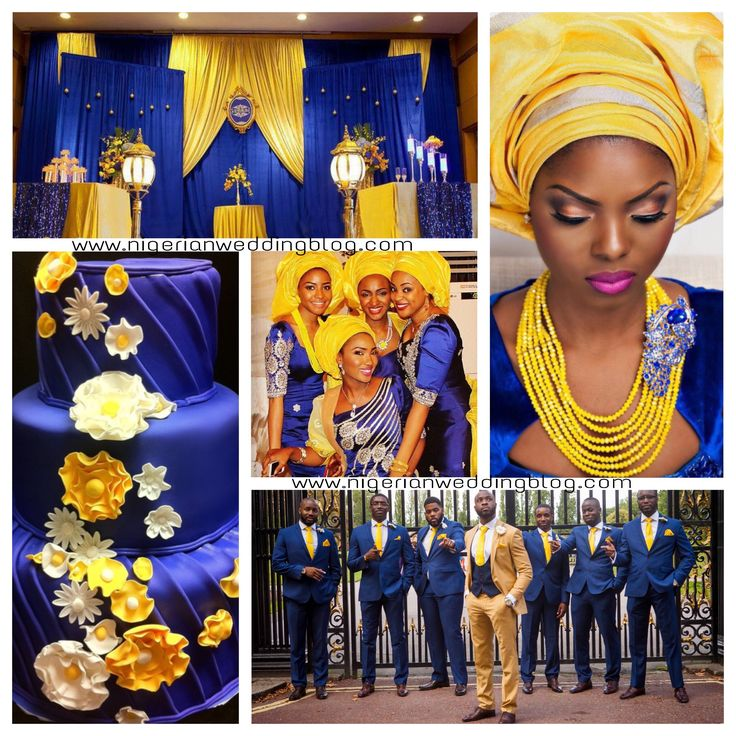 Nigerian Wedding Nigerian Wedding: Navy Blue & Yellow Wedding Color Scheme | Nigerian Wedding