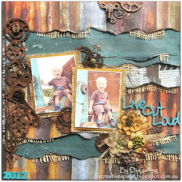 2Crafty Chipboard - July Inspiration ...Four  Layouts to SharePLUS a VIDEOBy Di Garling