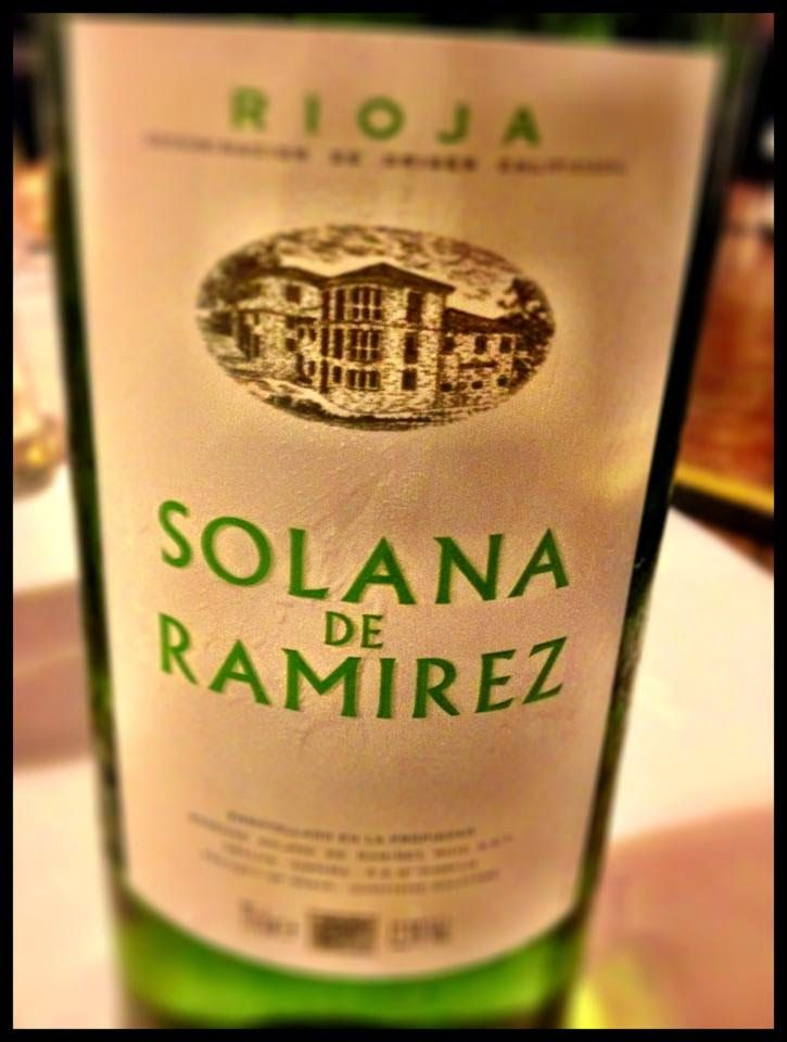 El Alma del Vino.: Vino y Gastronomía : Bodegas Solana de Ramírez Ruiz Blanco 2013 en Restaurante La Vieja Bodega / Casalarreina (La Rioja).