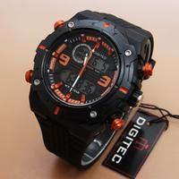 Jam tangan pria sport keren Digitec DG 3013T List Orange Original 100%