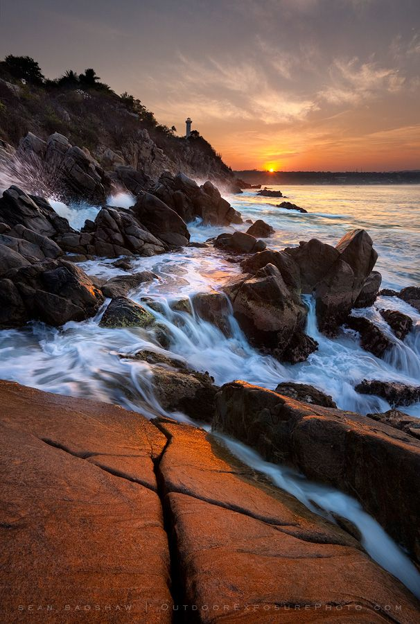Sunrise? Sunset? Whatever it is, you need to see this in person. (Puerto Escondido, Mexico)
