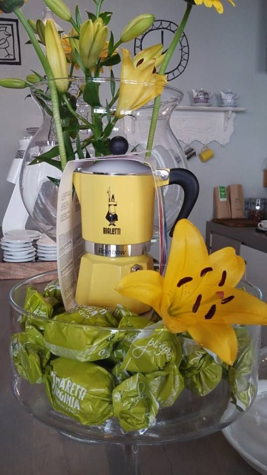 #Yellow Bialetti, Coffeemachine, #Coffeeroastery, #Vienna, #green