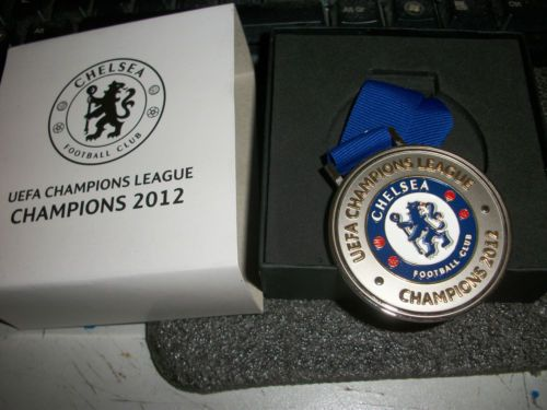 CHELSEA OFFICIAL 2012 CHAMPIONS LEAGUE WINNERS BRAND NEW BOXED MEDAL