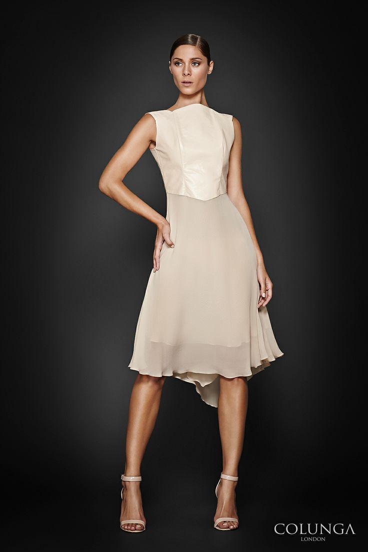 Renne. Dress of pure silk chiffon and leather. #style #fashion #luxury @Latin Fashion News by Gabriel Ibarzábal