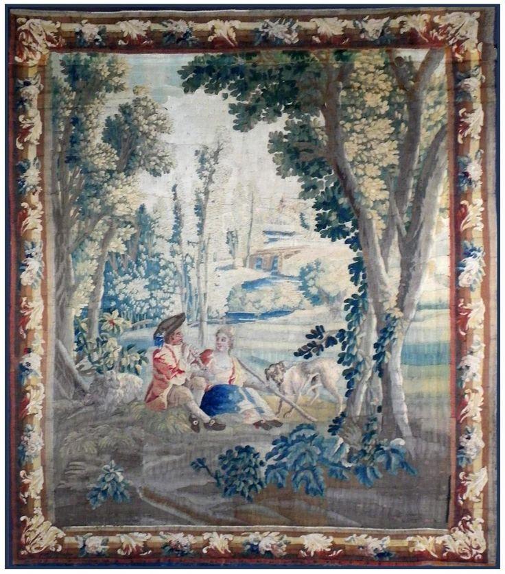 Tapisserie Aubusson Le Joueur De Flute XVIII Siècle, Jean Louis GOY, Proantic