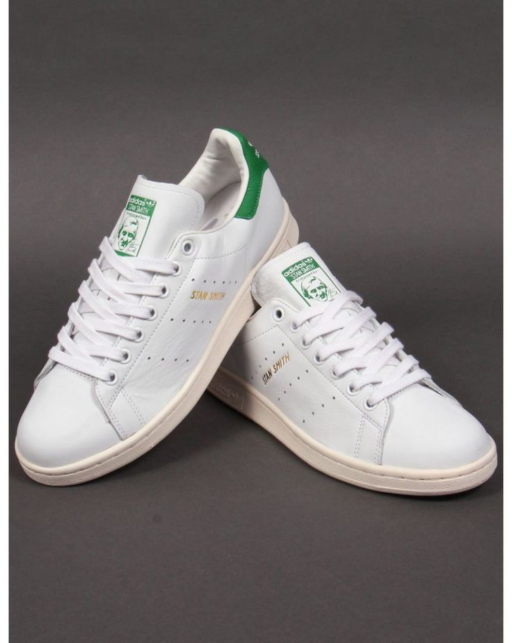 Adidas Originals Stan Smith Trainers in White & Green (Gold Print) (UK  Sizes)