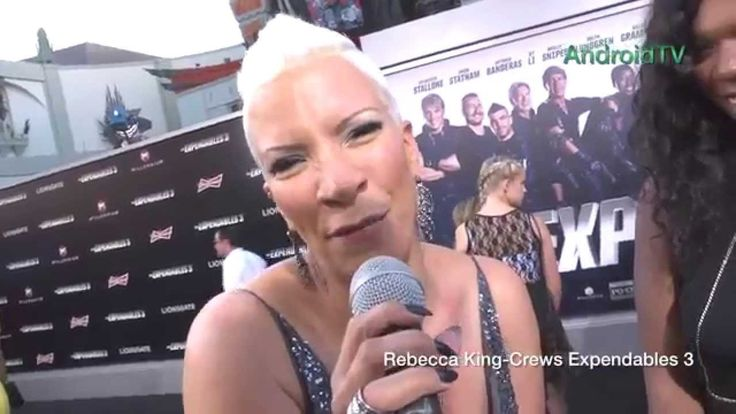 Rebecca King Crews at Expendables 3 premiere AndroidTV
