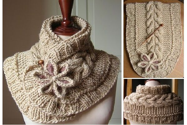 A Beautiful Knit Scarf (free pattern) - http://topcreativeideas.net/beautiful...