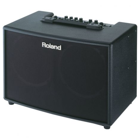 The highly anticipated addition to Roland's AC-series amp family has arrived! Loaded with high-performance speakers and 90 watts of power, the AC-90 provides a rich, powerful sound while remaining lightweight for easy transport. The AC-90 employs a stereo 2-way speaker system that delivers transparent highs — great for the built-in multi-band stereo chorus — while also providing incredibly powerful low-frequency performance.