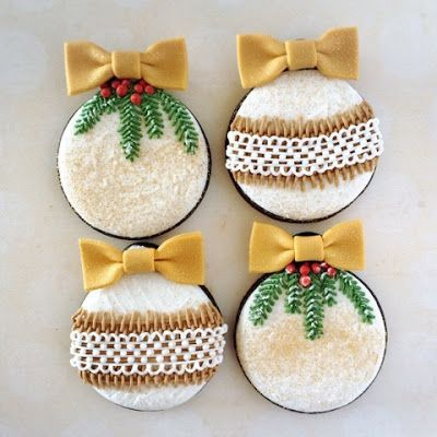 Beautiful Christmas ornament cookies.