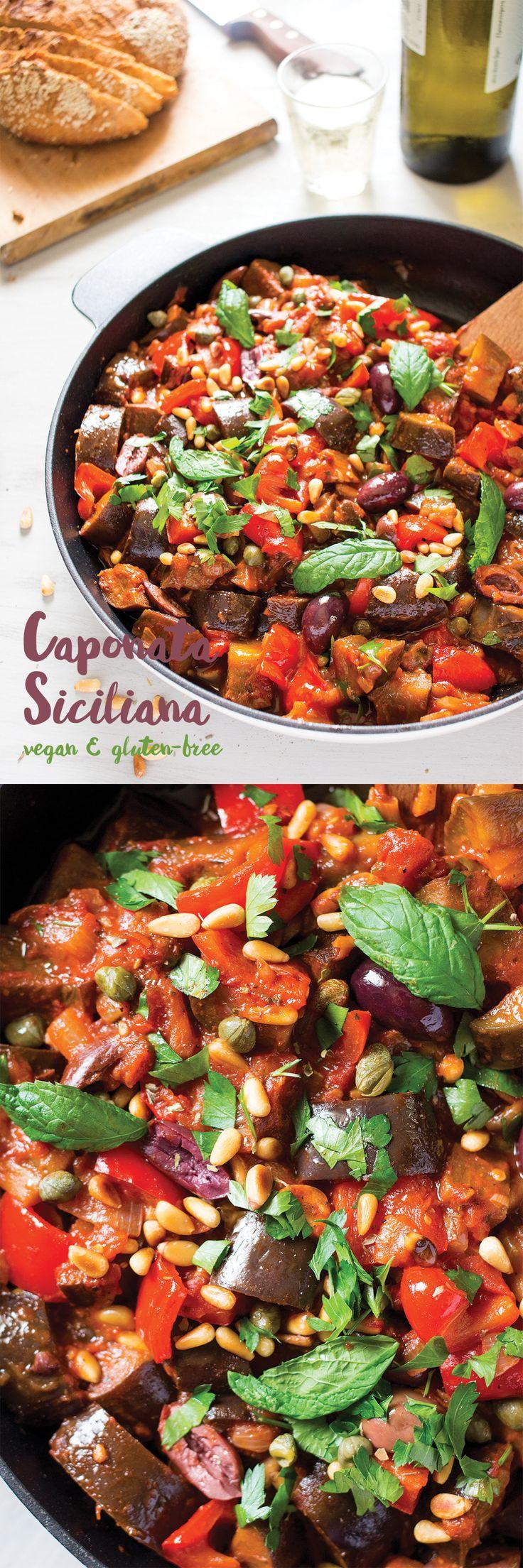#caponata #siciliana is a dish that screams summer! It's full of seasonal…