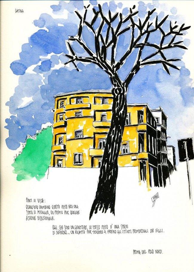 Fabrizio Gargano Sketchcrawl exhibition