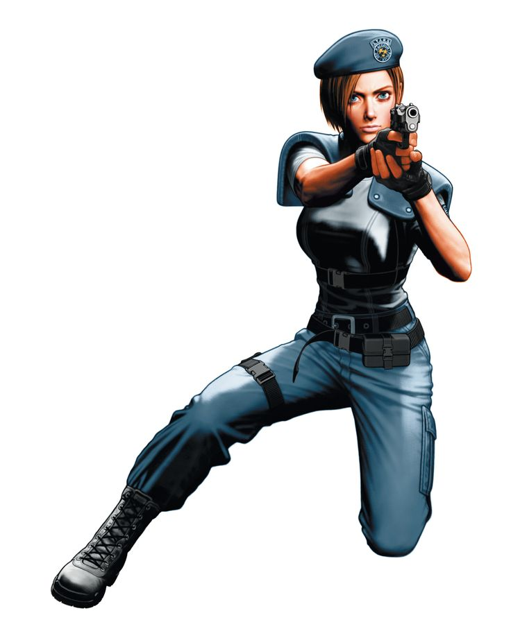 Jill Valentine from Resident Evil. Namely in her RE1 outfit. Great drawing.
