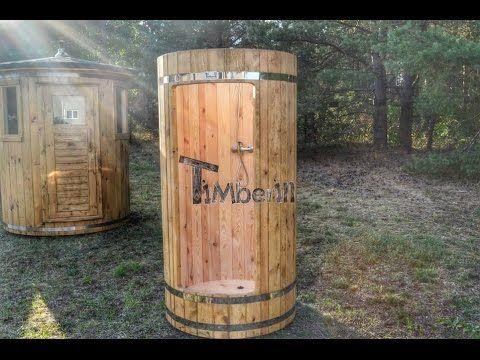 Außen Holzdusche für Gartensaunen - TimberIN