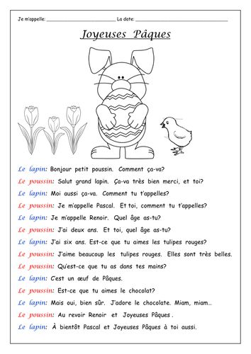 Image result for french easter worksheets